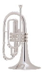 King K20SP Marching Silver Mellophone