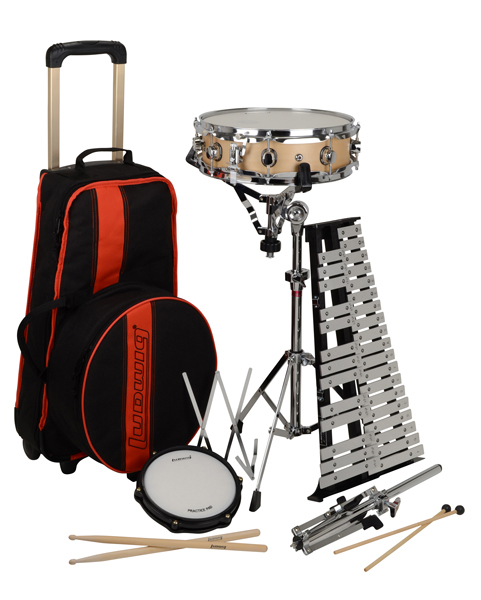 Ludwig le2483rbr educational drum bells combo kit review for Yamaha student bell kit with backpack and rolling cart