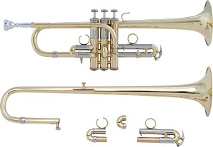 Bach Artisan Collection Model ADE190 Combination D/Eb Trumpet