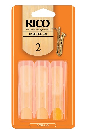 Rico Baritone Sax Reeds, Strength 2.0, 3-pack