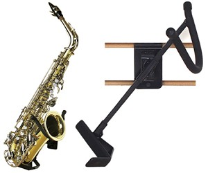"Disp,Alto/Tenor Sax Holder Blk3""Slatwall"