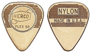 PICKS FLEX50 NYLN MED-GOLD-100/BAG